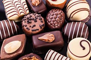 Фотографии Сладости Конфеты Шоколад Крупным планом Пища