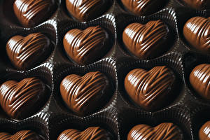Обои Сладости Конфеты Шоколад Сердце Еда фото