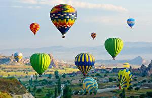 Фотографии Турция Аэростат Cappadocia Природа
