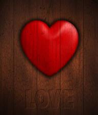 Картинка День святого Валентина Вблизи Доски Английский Сердце