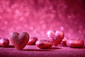 Обои День святого Валентина Сердце Розовый