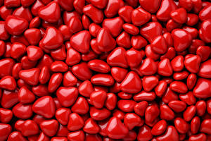 Картинка День святого Валентина Много Текстура Сердце Красный