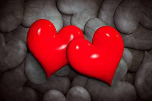 Обои День святого Валентина Камни Сердце Двое