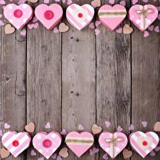 Обои День святого Валентина Доски Сердце Шаблон поздравительной открытки фото