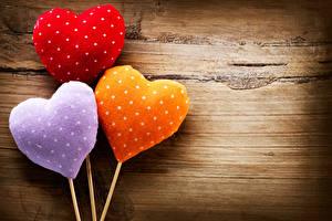 Фото День святого Валентина Доски Сердце Трое 3