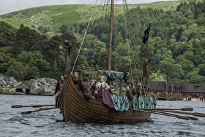 Обои Викинги (телесериал) Корабли Viking ships Фильмы фото