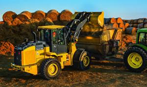 Обои Желтый 2015-16 John Deere 524K Loader фото