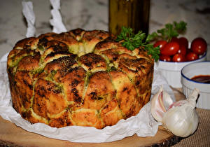 Обои Выпечка Пирог Чеснок Еда фото