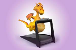 Фотография Драконы Беговая дорожка 3D Графика