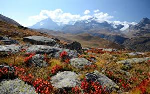 Фотографии Франция Горы Камни Альпы Saint-Pierre