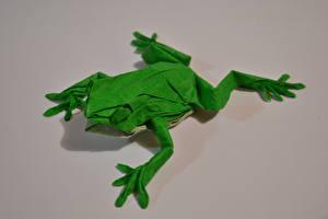Фото Лягушки Оригами Бумага