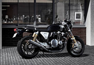 Фотография Honda - Мотоциклы Сбоку Черный 2016 CB1100 RS Мотоциклы