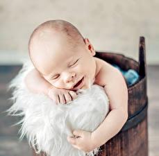 Обои Младенцы Спит Руки Дети фото