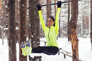 Фото Ноги Физические упражнения Девушки