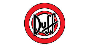 Фотография Логотип эмблема Пиво Белый фон Duff