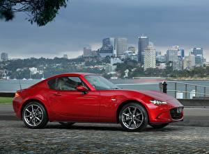 Картинка Mazda Красная Металлик Сбоку 2017 MX-5 RF GT авто