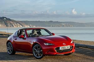 Обои Mazda Красных Металлик 2017 MX-5 RF машины