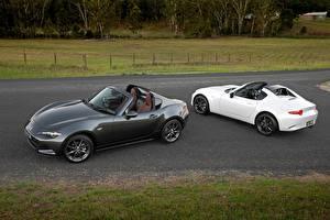 Обои Mazda Двое Кабриолет Металлик 2017 MX-5 RF Автомобили фото