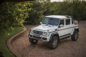 Обои Mercedes-Benz Тюнинг Белый 2017 Maybach G 650 Landaulet Worldwide Автомобили