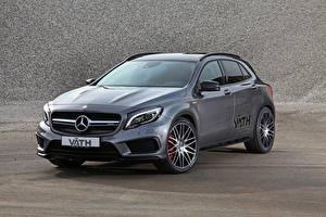 Обои Mercedes-Benz Серый X156, GLA-Class, VATH, AMG Автомобили фото