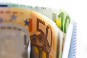 Фото Деньги Купюры Крупным планом Евро 50 10