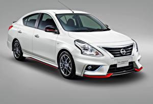 Обои Nissan Белый Almera Nismo Автомобили фото