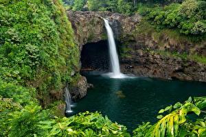 Фотография Парки Водопады Гавайи Wailuku River State Park Hilo