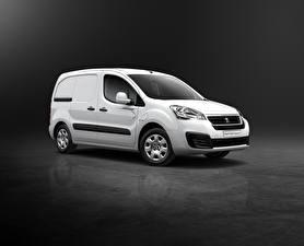 Обои Peugeot Белый Van Electric 2015 Partner Автомобили фото