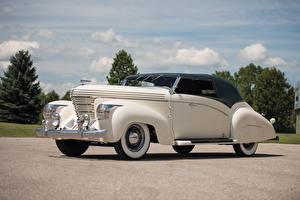Обои Ретро Белый 1938 Graham Model 97 Supercharged Cabriolet by Saoutchik Автомобили фото