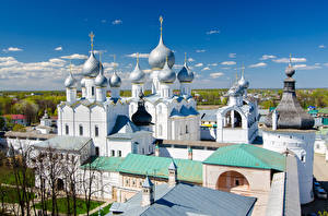 Фотографии Россия Храмы Церковь Дизайн Rostov Kremlin Yaroslavl Oblast Города