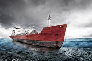 Обои Корабли Море Cargo Ship фото
