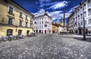 Обои Словения Здания Любляна Улица