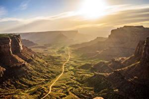Картинка США Парки Скала Каньон Mesa Arch Canyonlands National Park Природа