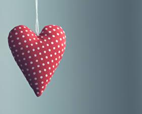 Картинки День святого Валентина Вблизи Цветной фон Сердце