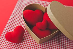 Обои День святого Валентина Сердце Красный Коробка фото