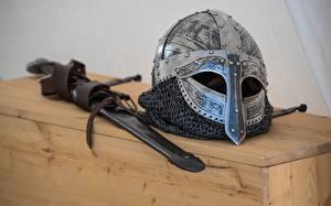 Фотографии Мечи Шлем Vikings