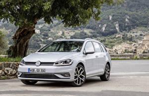 Фотографии Volkswagen Серебристый Металлик 2017 Golf TDI Variant Worldwide (Typ 5G) Автомобили