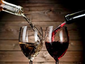Обои Вино Бокалы Двое Еда фото