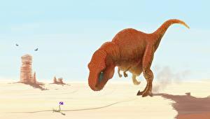 Картинки Древние животные Динозавры Тираннозавр рекс Животные