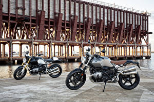 Картинки BMW - Мотоциклы Двое R nine T Мотоциклы