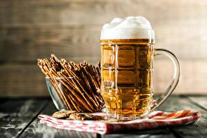 Обои Пиво Выпечка Кружка Пена Еда