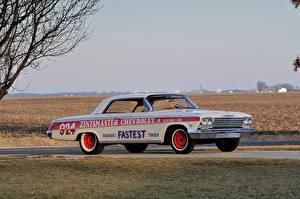 Картинки Chevrolet Ретро Тюнинг Белый 1962 Impala SS 409 Lightweight Coupe