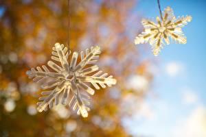 Фото Крупным планом Электрическая гирлянда Снежинки