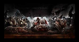 Картинки Darksiders Воители Нежить Мечи Игры Фэнтези