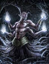 Картинка Демоны Магия Руки Фэнтези
