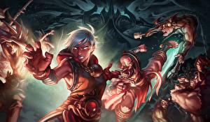 Обои Diablo III Битвы Воины Reaper of Souls Фэнтези