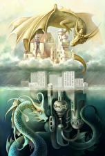 Обои Драконы Крылья Фэнтези картинки