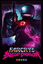 Обои Far Cry 3 Воители Автоматы Шлем Blood Dragon