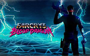 Фото Far Cry 3 Воители Мужчины Автоматы Молния Blood Dragon