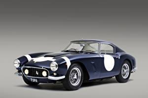 Обои Ferrari Старинные Цветной фон Синий 1960-61 250 GT Berlinetta Passo Corto Competizione Pininfarina Авто